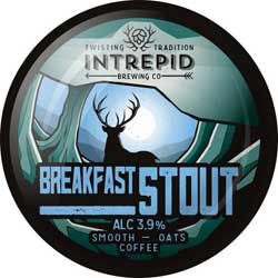 Intrepid Brewing Co | Breakfast Stout pumpclip