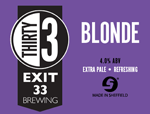 Exit 33 Brewing Blonde