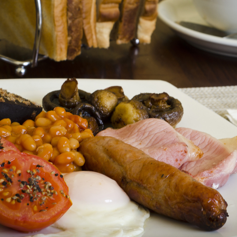 Full English Cooked Breakfast at The Norfolk Arms