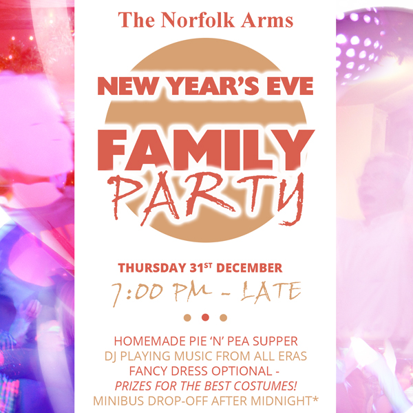 New Year's Eve family party at The Norfolk Arms
