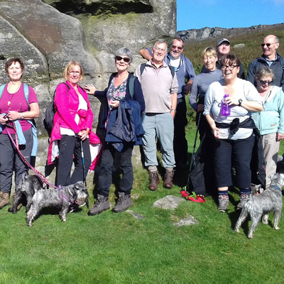 Ringinglow Walkers on the Bronte Walk