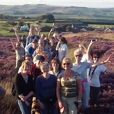 Ringinglow walkers at Brown Edge