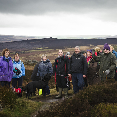A group of Ringinglow Walkers at Burbage