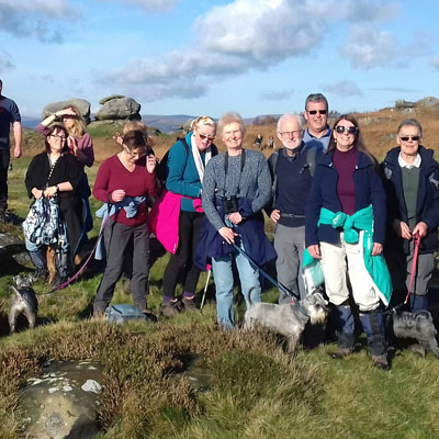A group of Ringinglow Walkers at Froggatt Edge