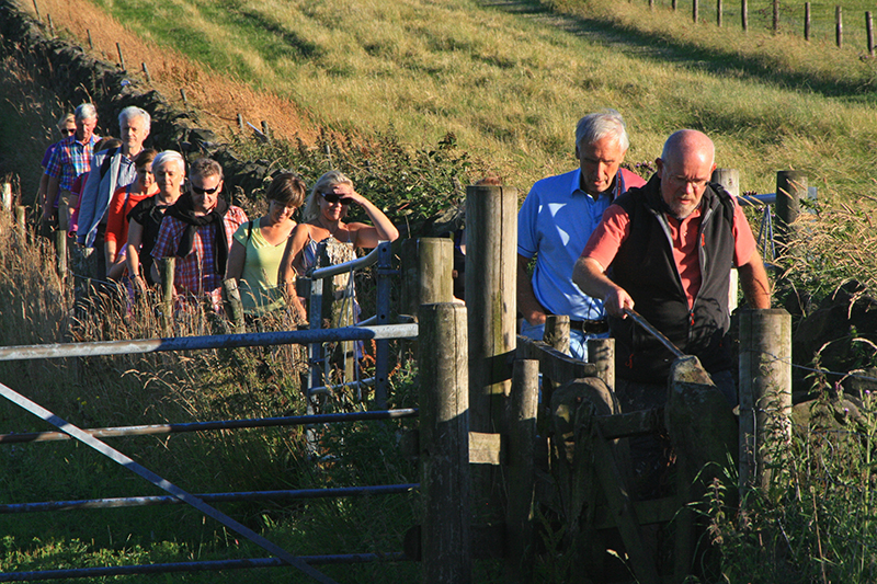 Ringinglow Walkers at Redmires, Summer 2015