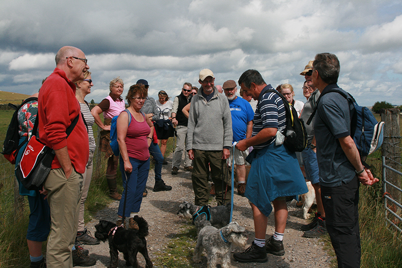 Ringinglow Walkers with guide Steve Murfitt