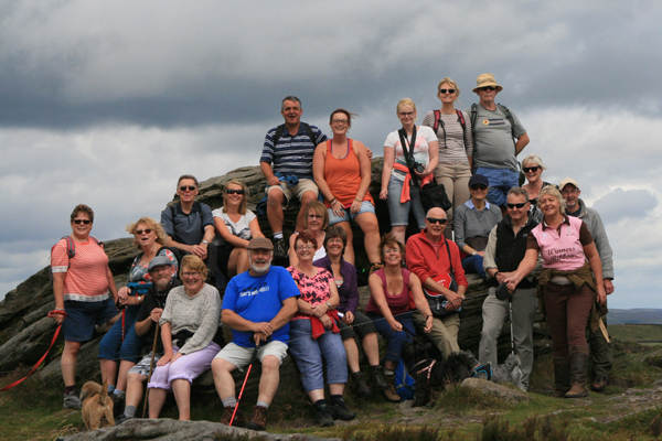 Ringinglow Walkers at The Ox Stones