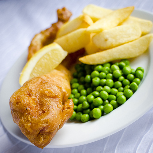 Children's Wedding Menu Fish and Chips