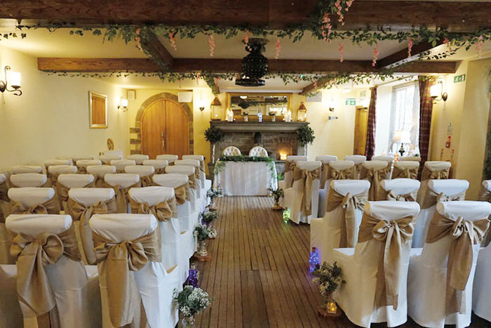 The Mayfield Room set for a ceremony