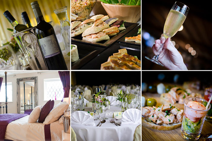 A montage of images featuring items from the wedding packages