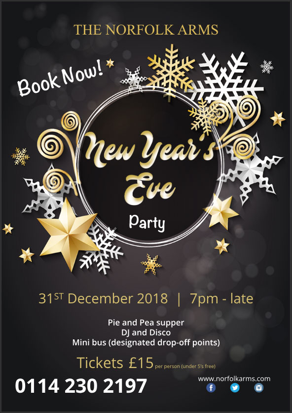 New Year's Eve at The Norfolk Arms, Ringinglow