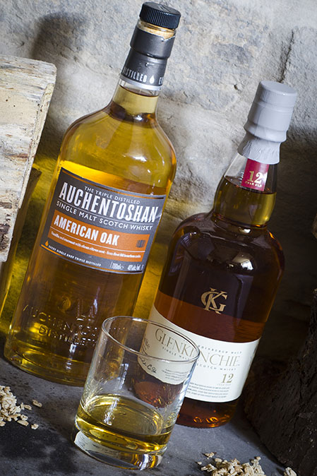 Auchentoshan and Glenkinchie Single Malt Scottish Whisky at The Norfolk Arms, Ringinglow