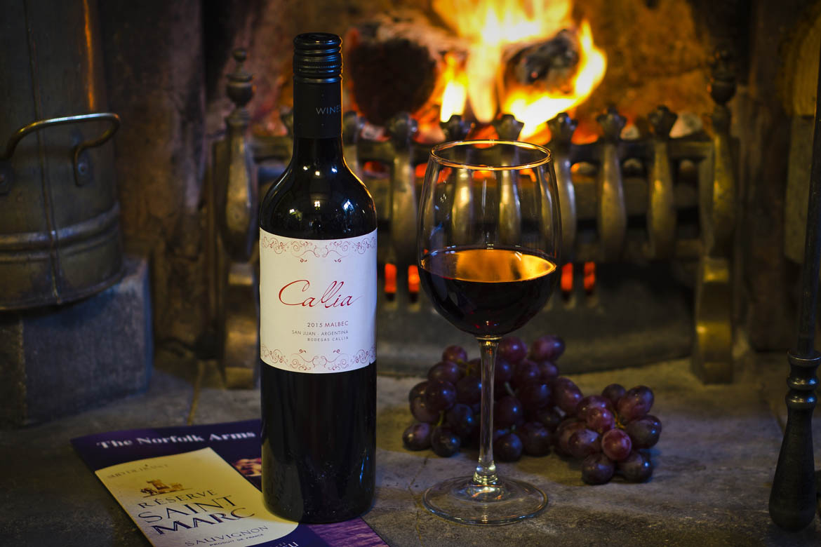 Callia Malbec, Wine of the Month at The Norfolk Arms, Ringinglow